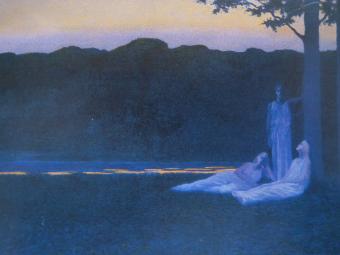bocejo em forma de sonho com azuis, luzes e maresia
